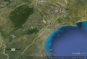 Odisha Project Location